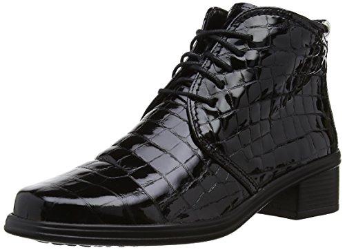 0a657c9ece Gabor Womens Elaine AP Boots 94.540.97 Black Alligator Patent 5.5 UK, 38.5  EU