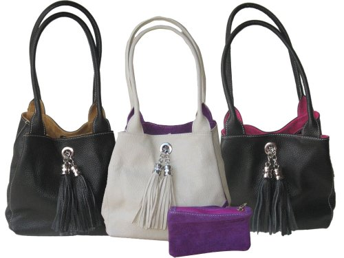 Reversible Leather And Suede Shoulder Bag 5