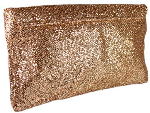 girly handbags yellow gold glitter clutch bag large flat