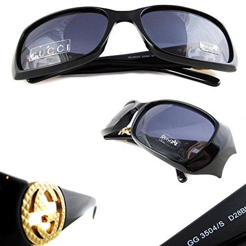 b8b1bb8f93 Gucci 3504 d28 Black 3504 Rectangle Sunglasses - Top Fashion Shop