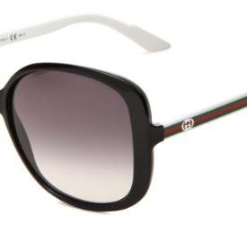 774494e2441 Gucci-Womens-3157-Black-White-FrameGrey-Gradient-Lens-