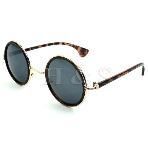 3278ae4e04a H S® Steampunk Sunglasses 50s Round Glasses Cyber Goggles Vintage ...