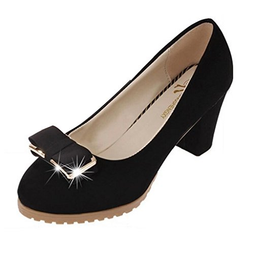 hee grand casual bowkont thick high heel shoes uk 5