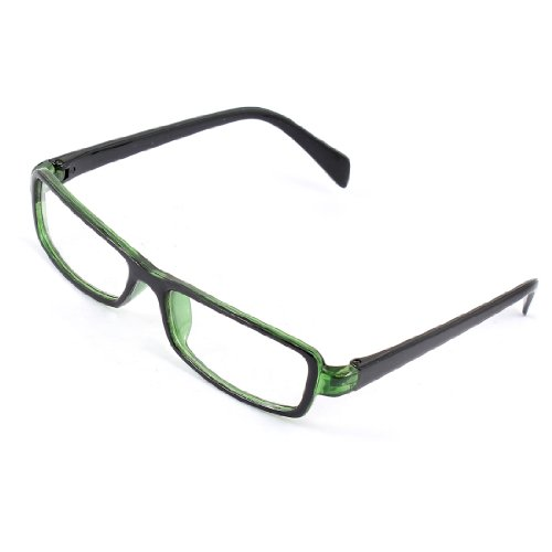 Best Plastic Frame Glasses : Kids Rectangle Clear Lens Plastic Green Black Full Frame ...