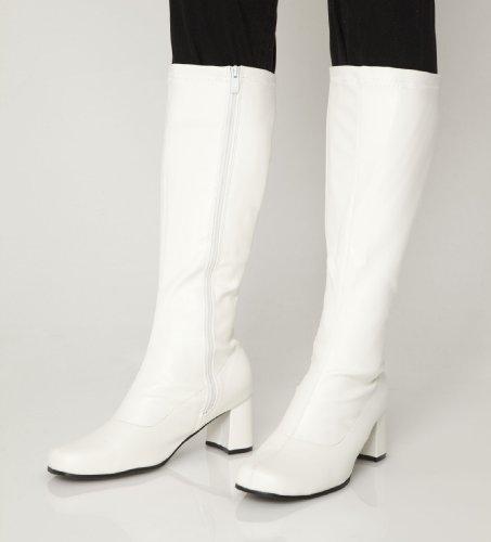 Knee High Boots - Fancy Dress White