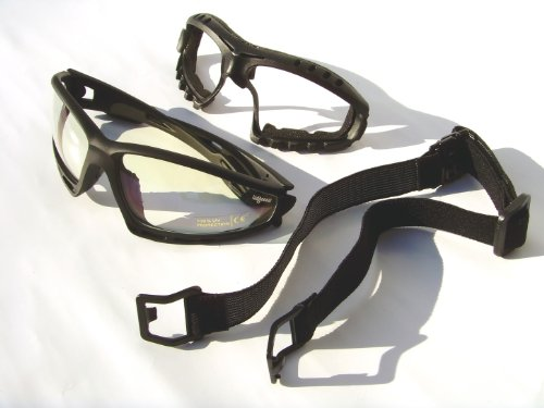 Ladgecom Clear Lens Black Frame Cycling Amp Running Glasses