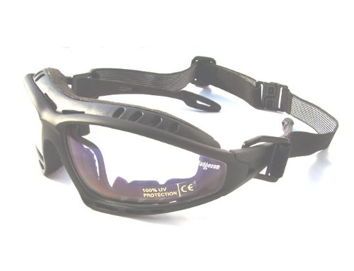 6fcdce124d4 Ladgecom Clear Lens Black Frame Cycling   Running Glasses   Goggles ...
