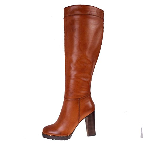 bebo burnished leather look stacked cleated