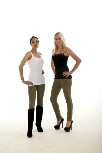 Ladies Jeans Womens Casual Trouser Slim Fit Skinny Khaki