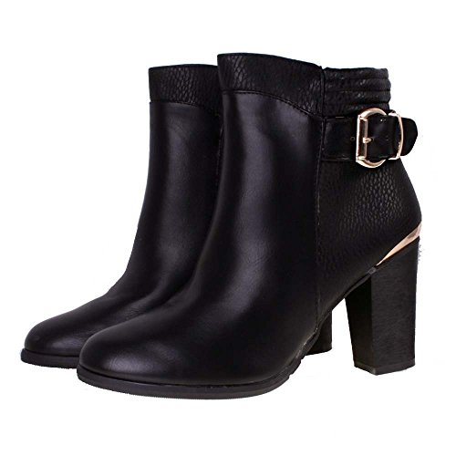 black ankle boots gold buckle \u003e Up to
