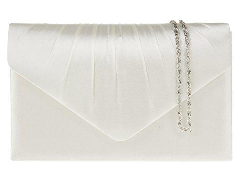 Ladies Pleated Satin Envelope Evening Clutch Bag Handbag Bridal Prom 8 Colouru0026#39;s Complete With ...