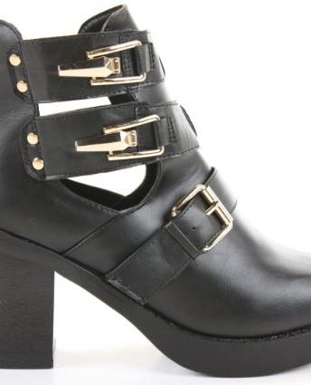 c482819e8d263 Ladies Womens Chelsea Cut Out High Heel Block Shoes Platform Winter ...