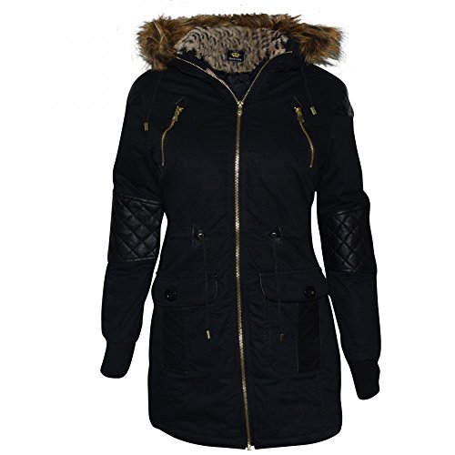 Ladies Womens Designer Oversized Hood Soft Fur Cotton