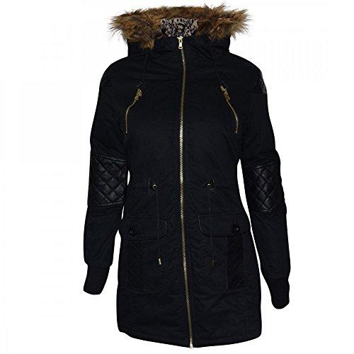 Jackets > Ladies Womens Designer Oversized Hood Soft Fur Cotton Parka