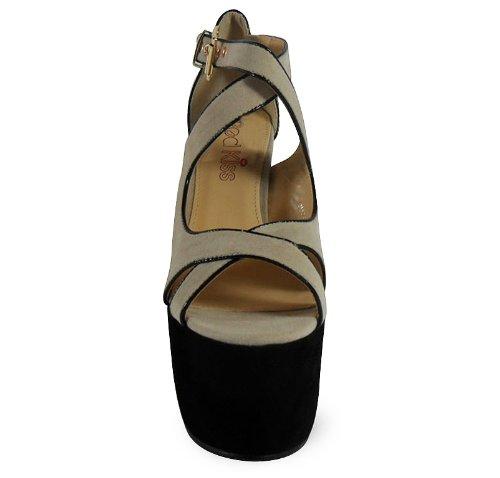 loudlook new womens ankle straps high block heel