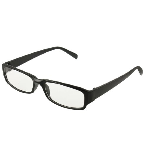 Best Plastic Frame Glasses : Man Woman Black Plastic Full Frame Clear Lens Glasses ...