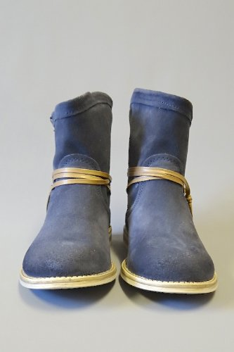 Marco Tozzi Womens Navy Blue 100 Genuine Suede High