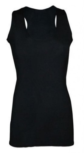 37d4d5335d new womens ladies plain sleeveless racer muscle back bodycon vest ...