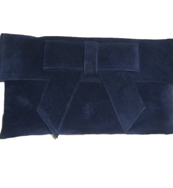 55b82a28e79 Navy faux suede clutch bag Navy suede clutch bag with bow shoulder ...