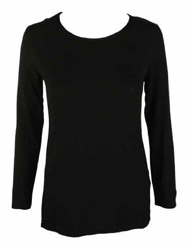 e9dfc1cfb7daa New Ladies Plain Stretch Fit Long Sleeve Womens T-Shirt Round Neck ...
