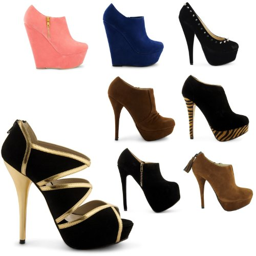6613b4955e7 New Ladies Platform Peep Toe Wedge High Heel Court Sandals Shoes ...