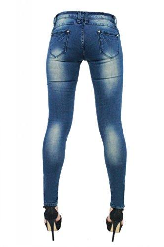 New Womens Ladies Denim Skinny Jeans Distressed Ripped