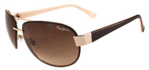 8152682389d Pepe Jeans Ladies Girls Women Brown Rae Aviator Sunglasses With ...