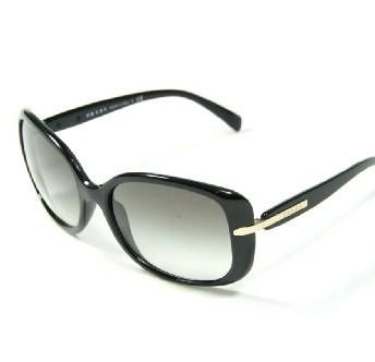 db6d6a23c7159 Prada Sunglasses PR 08OS - 1ABOA7 Black w. Silver (Grey Gradient ...