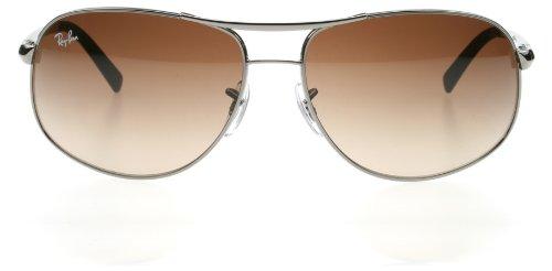 11355bca312 Ray-Ban 3387 004 13 Gunmetal 3387 Aviator Sunglasses Lens ...