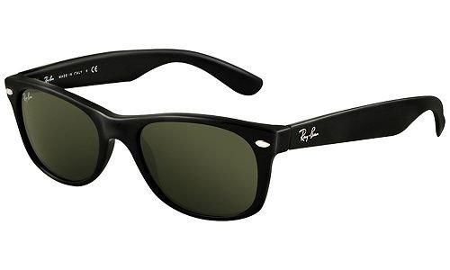 Ray Ban Rb2132 New Wayfarer Black Frame/Grey / Green Lens ...