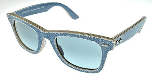 05269a1ce7 Ray Ban Rb2140 Original Wayfarer Jeans Azure (Real Compressed Jeans Layers)  Frame Blue
