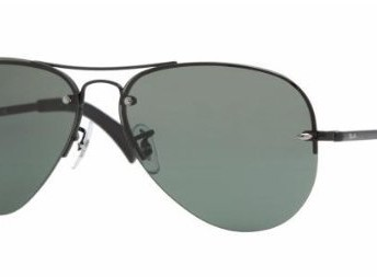 cbb30702f2 Ray Ban Rb3449 Black Frame Grey   Green Lens Metal Sunglasses