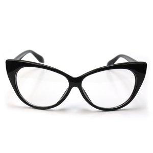 Retro Vintage Womens Eyeglasses Cat Eye Black Plastic ...