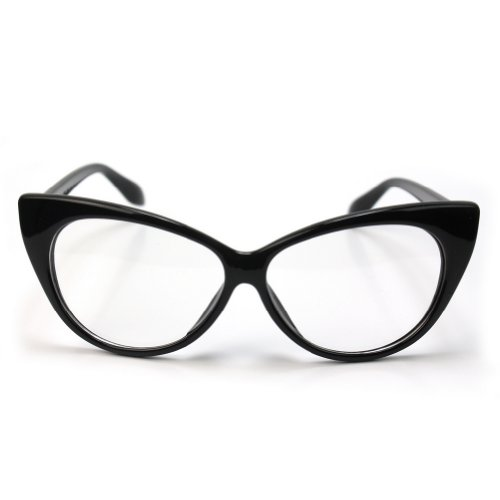 Retro Vintage Womens Eyeglasses Cat Eye Black Plastic ...