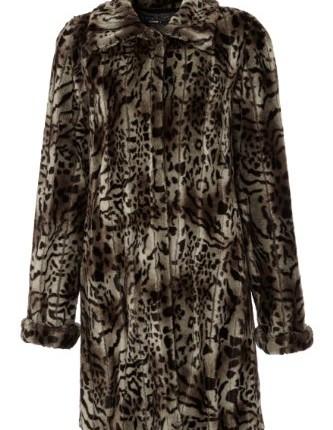 Roman Women s Animal Print Faux Fur Coat Grey Size XXL - Top Fashion ... 8e7c1aad5
