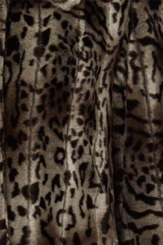 Roman Women S Animal Print Faux Fur Coat Grey Size Xxl