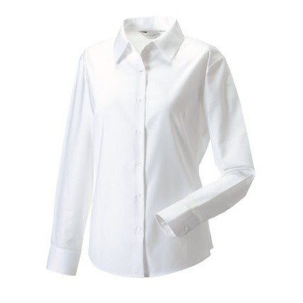 Russell Collection Ladies Womens Long Sleeve Easy Care