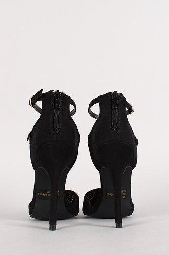0ed964f9d7f ... Shoe Size 7. Shoehorne-Potion-104-Womens-Black-Cutout-Design-Pointed-