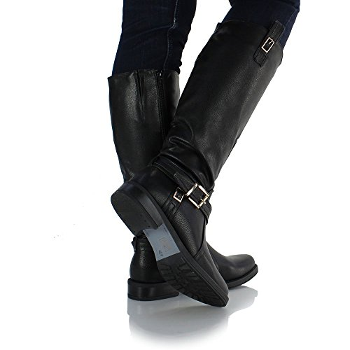 Sole Affair Bexley Ladies Women Leather Style Knee High