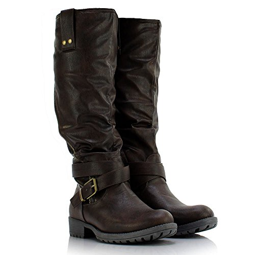 Sole Affair Hustle Ladies Womens Leather Style Knee High