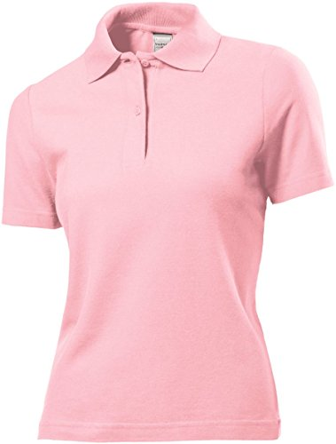 fedc56775 Stedman ST3100 Womens Cotton Polo Shirt Light Pink L - Top Fashion Shop