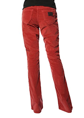 360e3a56cb Stitch s Women s Boot Cut Jeans Comfort Red Corduroy Bootleg ...
