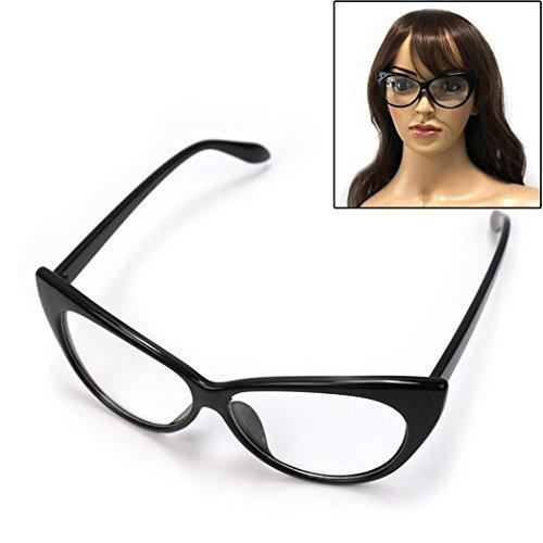 7aac5dca67 Super Cat Eye Glasses Vintage Inspired Mod Fashion Clear Lens ...