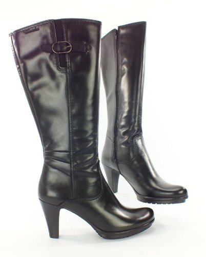 tamaris trend leather boots black gr 36 top fashion shop