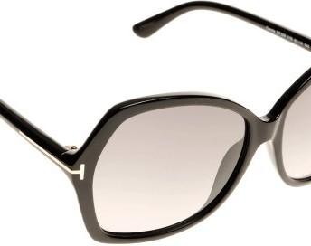 9136ee595c97 Tom Ford 0328S 01B Black Carola Square Sunglasses Lens Category 2 ...