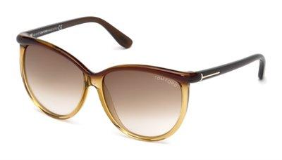 Yellow Plastic Frame Sunglasses : Tom Ford Womens 0296 Dark Brown / Yellow Tortoise Frame ...