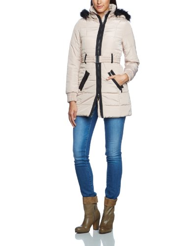 1618ce8b9df VERO MODA Women s Long - regular Coat - Beige - Beige (Doeskin) - 12 ...