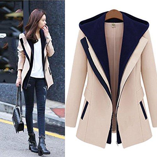 Vakind Autumn Casual Women Slim Zipper Long Sleeve Jacket ...