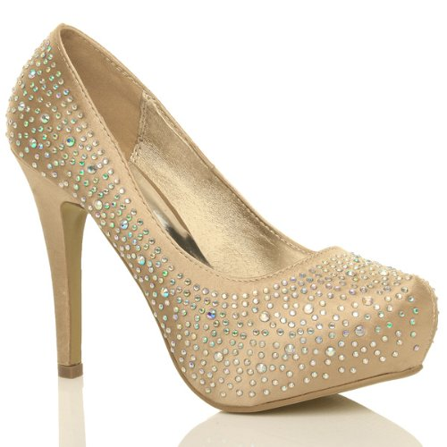 womens concealed platform high heel wedding prom