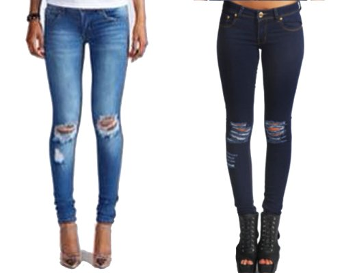 WOMENS LADIES SKINNY FIT RIPPED JEANS DENIM BLUE SIZE 8 ... 0a62db54de